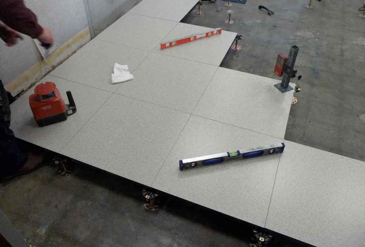 MonMan's Access Flooring Installation Starts from Square One